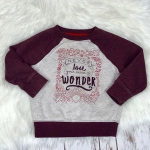 Other - Cat & Jack Maroon Sweatshirt